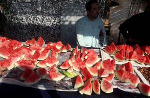 عکس/ورزشگاه آزادی بهصرف هندوانه و سیبزمینی