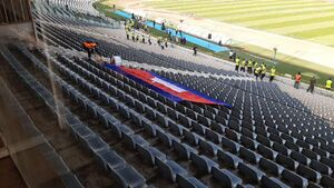 عکس/ هوادار کامبوجی حاضر در ورزشگاه آزادی