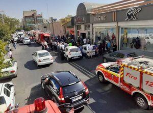 عکس/ انفجار در یک مجتمع تجاری در پونک تهران