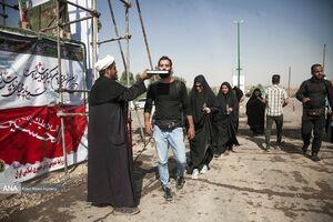 عکس/ حال و هوای زائران اربعین در مرز خسروی
