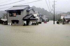 بارش باران جان یک نفررا در ژاپن گرفت