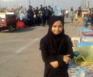 پخش جالب آب به روش دختر کوچک عراقی +عکس