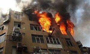 فیلم/ آتشسوزی در مجتمع مسکونی شهرک غرب