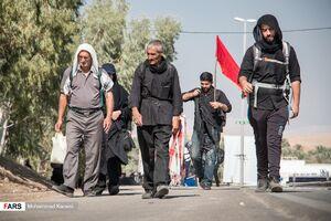 عکس/ زائران اربعین حسینی در مرز خسروی