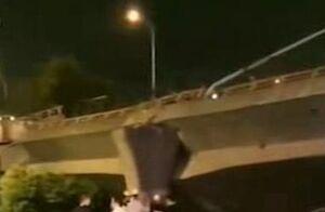 فیلم/ سقوط مرگبار پل در بزرگراه!