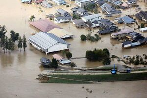 آسیب طوفان «هاگیبیس» به بزرگترین پایگاه دریایی آمریکا در ژاپن