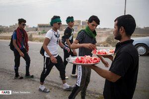 عکس/ استقبال گرم از زائران در مسیر ناصریه