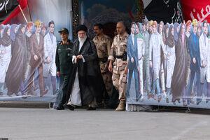 حضور رهبرانقلاب در دانشگاه افسری امام حسین