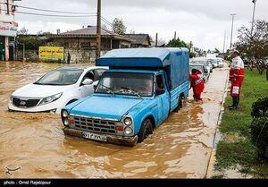 سیلاب و آبگرفتگی در رودسر گیلان