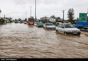 فیلم/ سیلاب در محور سمنان- تهران