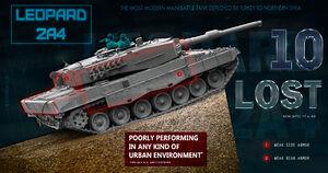 تانکهای لئوپارد ارتش ترکیه وارد خاک سوریه شدند +فیلم