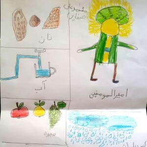 نعمتهای خدا به روایت نقاشی یک کودک +عکس