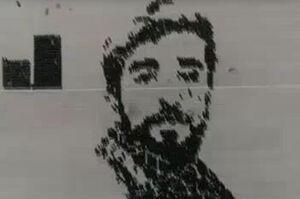 فیلم/ اجرای زیبای طرح چهره شهید حججی و امام خمینی(ره)
