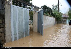 عکس/ جاری شدن سیل و آب گرفتگی منازل در میان پشته رودسر