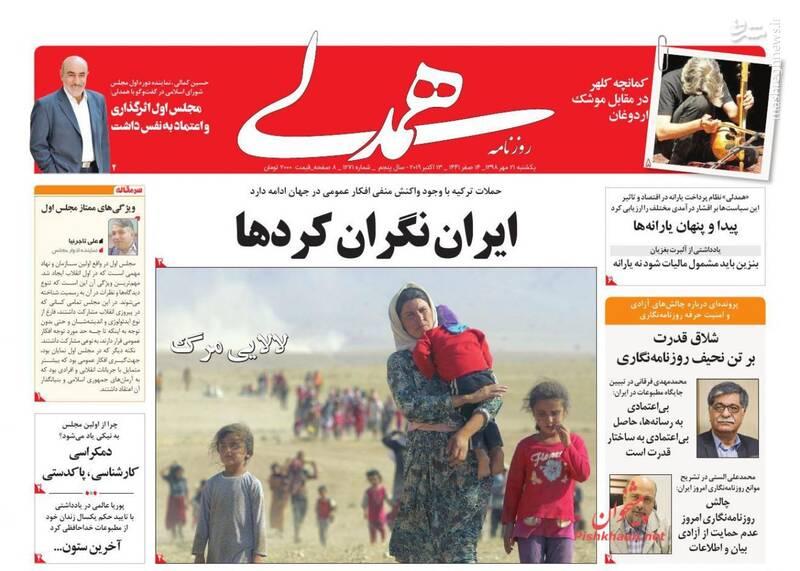 همدلی: ایران نگران کردها
