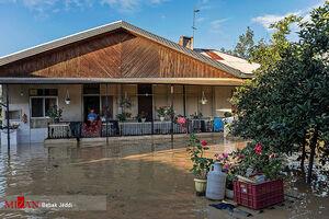 عکس/ سیل در روستای شیخ محله شهرستان صومعه سرا - گیلان