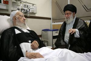 عیادت رهبر معظم انقلاب از حضرت آیتالله مکارم شیرازی +عکس
