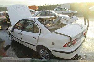 ۲ کشته در تصادف مرگبار محور یاسوج-اصفهان +عکس