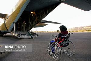 عکس/ انتقال هوایی ٤٤ بیمار و مصدوم از زائران اربعین