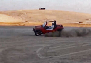فیلم/ حرکت نمایشی یک سعودی با خودرو!