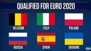 عکس/ تیمهایی که صعودشان به یورو ۲۰۲۰ قطعی شده