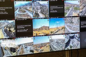 عکس/ وضعیت طرح ترافیکی اربعین در مرز مهران