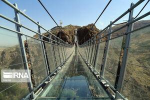 پل معلق تمام شیشه در شهرستان «هیر»