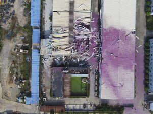 عکس/ انفجار مرگبار در کارخانه مواد شیمیایی