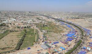 تصاویر هوایی از مسیر پیاده روی نجف-کربلا