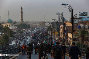 عکس/ محل شروع پیادهروی زائران در نجف