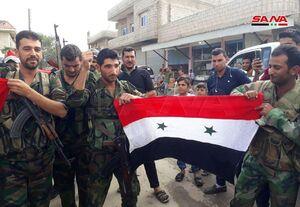"""عکس/ برافراشتهشدن پرچم سوریه در""""عینالعرب"""""""