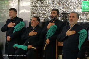 عکس/ غبارروبی حرم حضرت عبدالعظیم(ع)