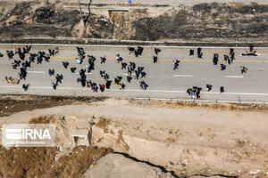 تصاویر هوایی از وضعیت مرز مهران