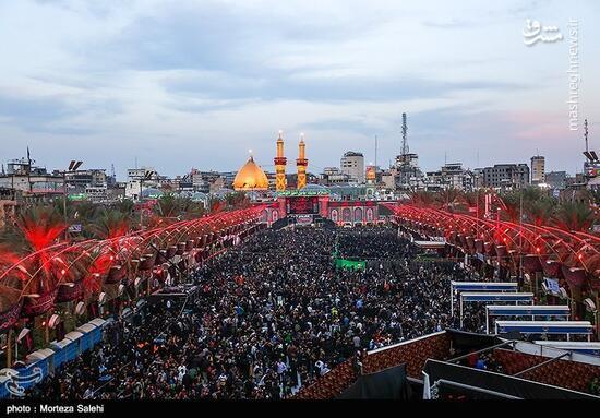 فیلم/ حال و هوای کربلای معلی در شب اربعین حسینی