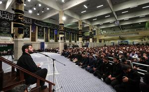 فیلم/ مرثیهخوانی میثم مطیعی در محضر رهبر انقلاب