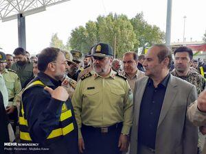 عکس/ بازدید سردار اشتری از پایانه مرزی مهران