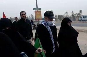 فیلم/ حضور سردار عزیز جعفری در پیاده روی اربعین
