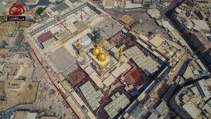 تصویر هوایی از کاظمین در روز اربعین