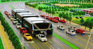 فیلم/ اتوبوس هوایی، چارهای برای معضل ترافیک