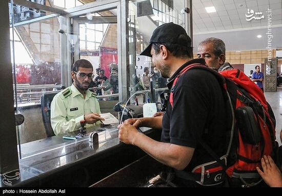 عکس/ بازگشت زائران اربعین از مرز شلمچه