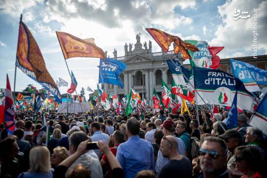 عکس/ خیابانهای رم در قرق راستگرایان ایتالیایی