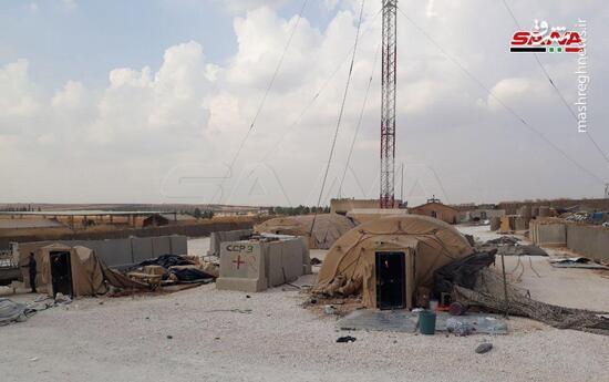 عکس/ پایگاه تخلیه شده نظامیان آمریکایی در سوریه