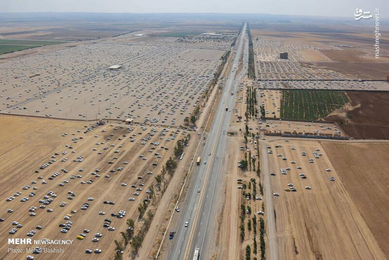 تصاویر هوایی از پارکینگ مرز مهران