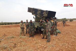 عکس/ استقرار نیروهای ارتش سوریه در منبج