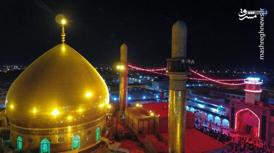 تصویری زیبا از گنبد حرم امامین عسکریین(ع)