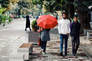 عکس/ بارش نخستین باران پاییزی در همدان