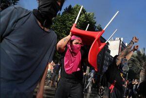 عکس/ خیابانهای شیلی وضعیت جنگی گرفت