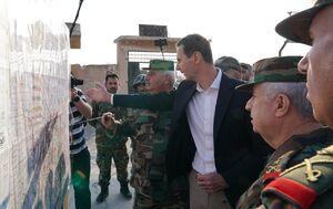 «بشار اسد» در جمع نیروهای ارتش سوریه