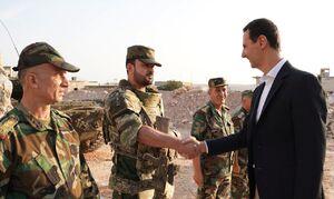 دیدار بشار اسد و «سهیل الحسن» فرمانده نیروهای «تایگر» ارتش سوریه