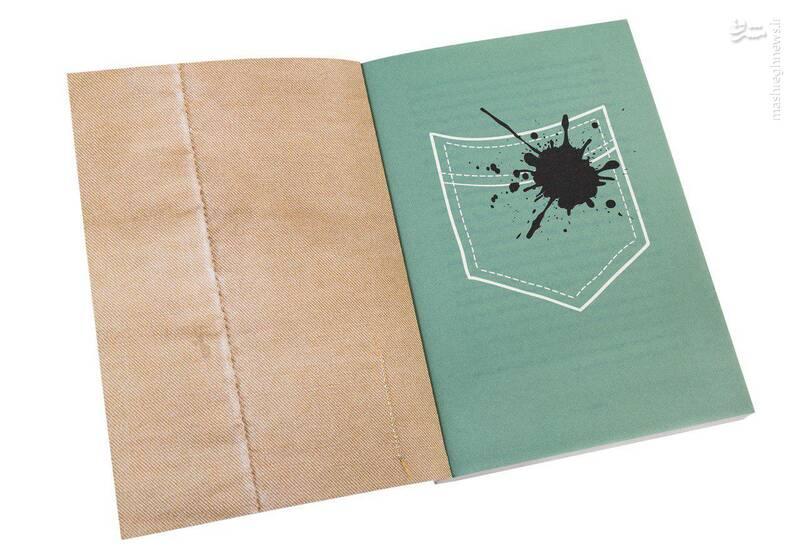 رنگ نخ دوخت روی جلد با رنگ زمینهی صفحهی اول کتاب هماهنگ شد. رنگ دوختهای داخل جلد هم با رنگ نخ دوختهایی که در تصویر داخل جلد میبینیم، همرنگ شدند